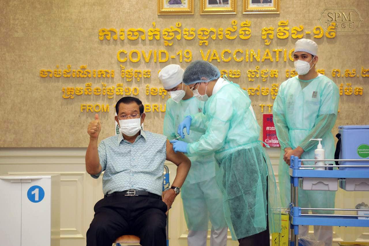 कम्बोडियामा प्रधानमन्त्री सहित उच्च नेताहरुद्धारा भारतमा उत्पादित खोपको प्रयोग