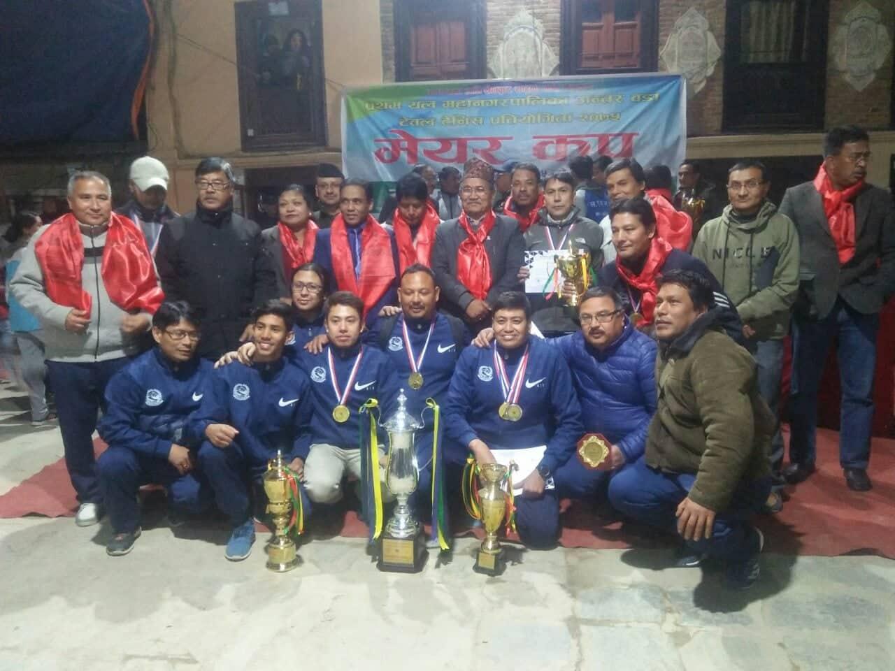 प्रथम यल ललितपुर महानगर मेयर कप टेवल टेनिस प्रतियोगिता सम्पन्न