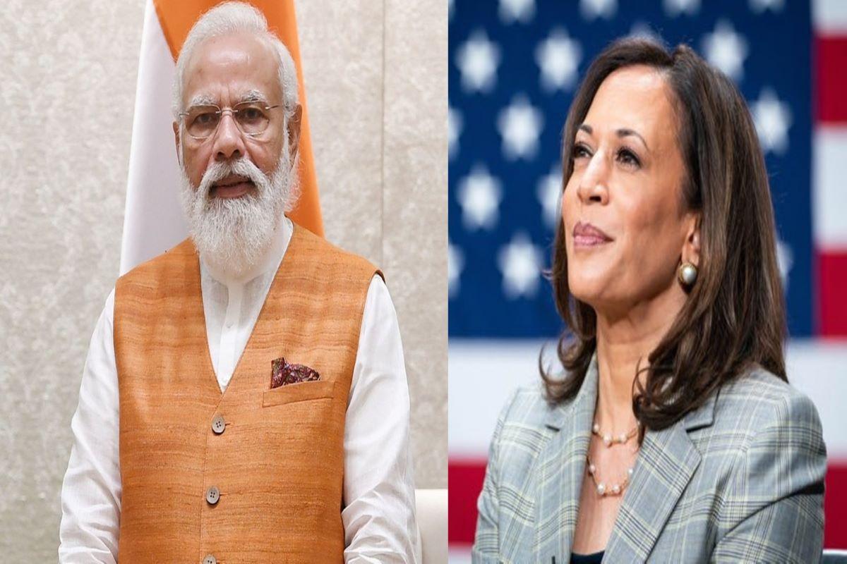 अमेरिकाका उपराष्ट्रपति हैरिस र भारतीय प्रधानमन्त्री मोदीबीच भेटवार्ता
